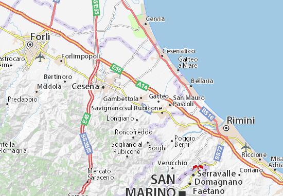 Gambettola Map