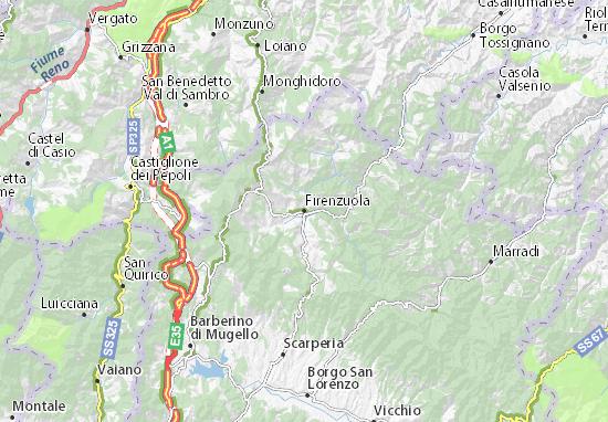 Kaart Plattegrond Firenzuola