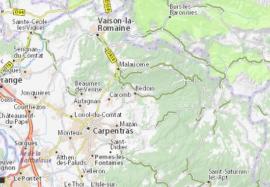 Bédoin Map