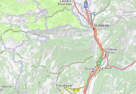 Sisteron France Map.Detailed Map Of Signal De Lure Signal De Lure Map Viamichelin