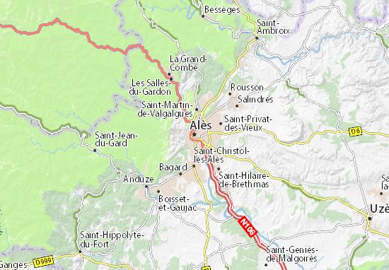 Carte-Plan Alès