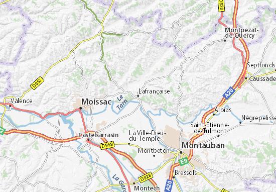 Mapa Plano Lafrançaise