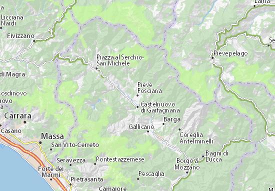 Mapas-Planos Pieve Fosciana