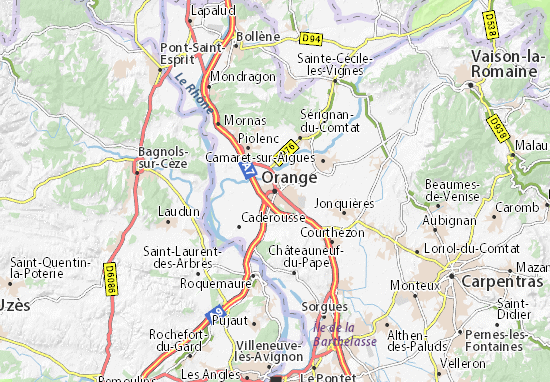 Carte-Plan Orange