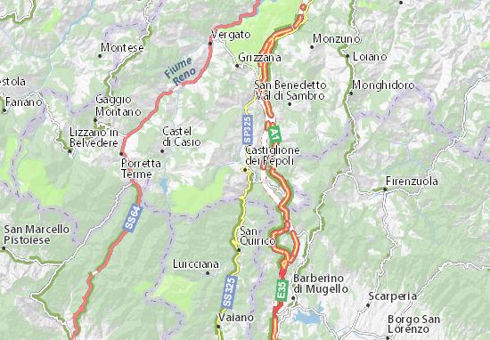 Mapas-Planos Castiglione dei Pepoli