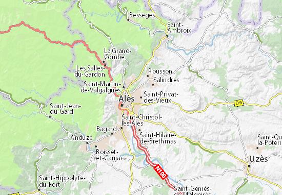 Carte-Plan Saint-Privat-des-Vieux