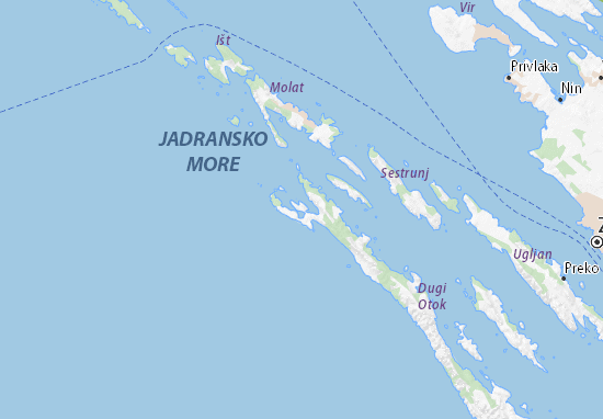 Verunić Map