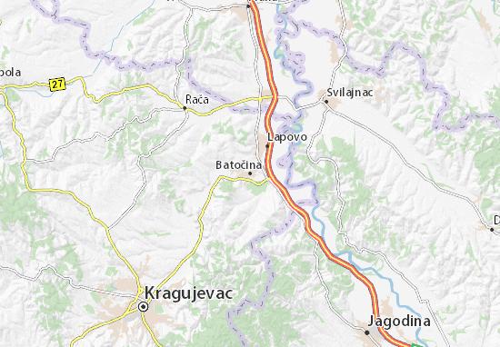 Mapa Plano Batočina