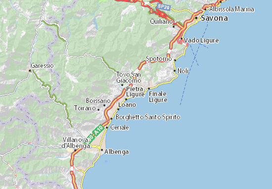 Karte Stadtplan Borgio Verezzi