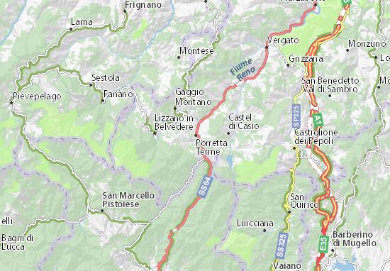 Carte-Plan Porretta Terme
