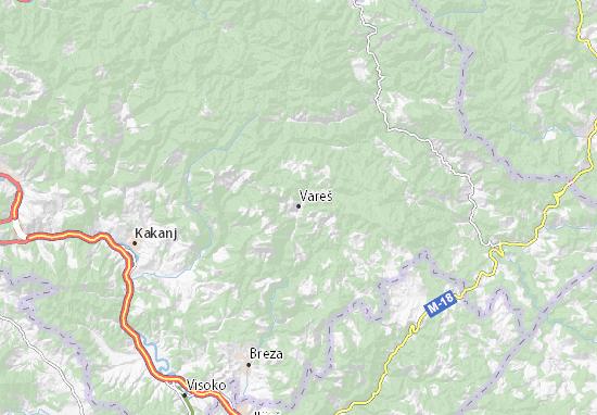 Vareš Map