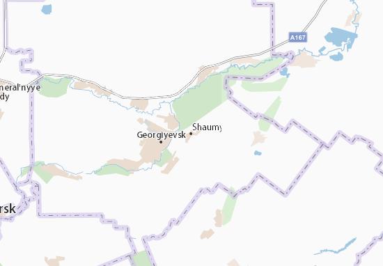 Shaumyanskiy Map
