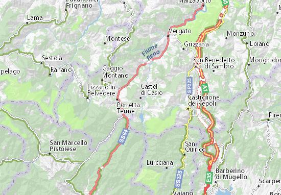 Castel di Casio Map