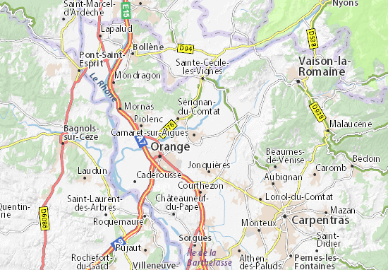 Carte-Plan Camaret-sur-Aigues