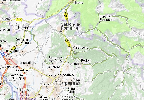 Malaucène Map