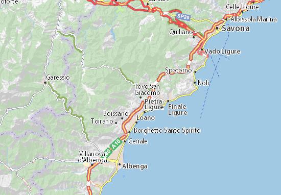 Karte Stadtplan Tovo San Giacomo