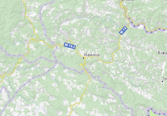Carte-Plan Vlasenica