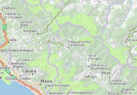 Carte-Plan Piazza al Serchio-San Michele