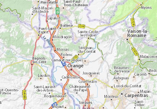Mappe-Piantine Sérignan-du-Comtat