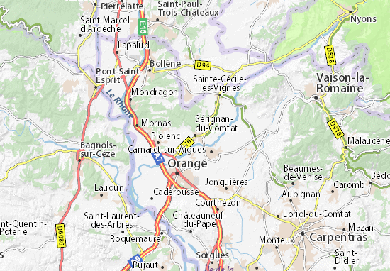 Mapa Plano Sérignan-du-Comtat