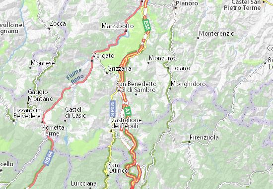 Mapas-Planos San Benedetto Val di Sambro