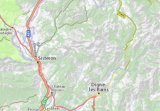 Sisteron France Map.Col De Font Belle Map Detailed Maps For The City Of Col De Font