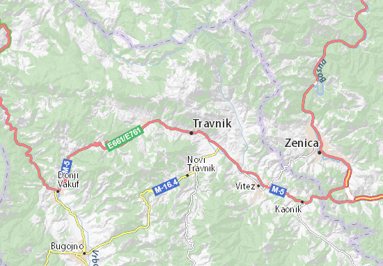 Carte-Plan Travnik