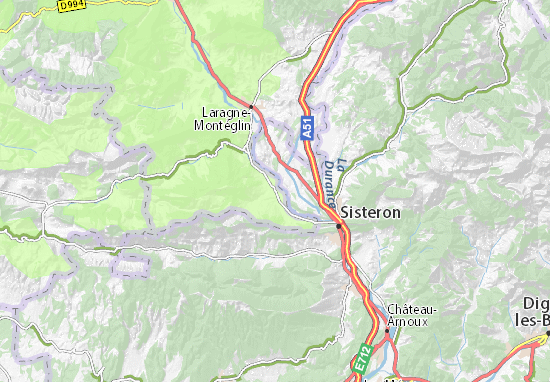 Sisteron France Map.Ribiers Map Detailed Maps For The City Of Ribiers Viamichelin