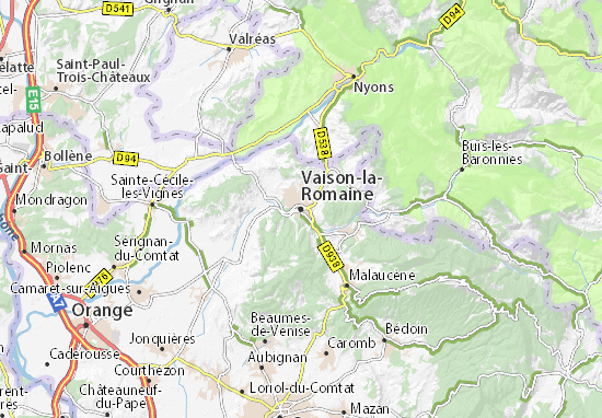 Carte-Plan Vaison-la-Romaine