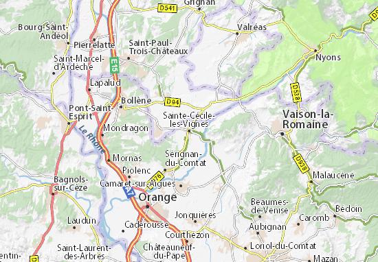 Carte-Plan Sainte-Cécile-les-Vignes