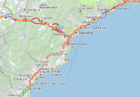 Varigotti Liguria Cartina Geografica.Mappa Michelin Bergeggi Pinatina Di Bergeggi Viamichelin