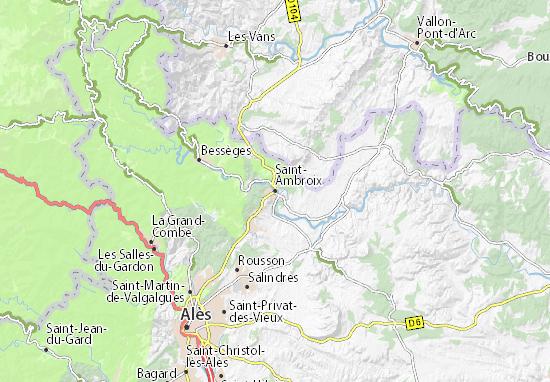 Carte-Plan Saint-Ambroix