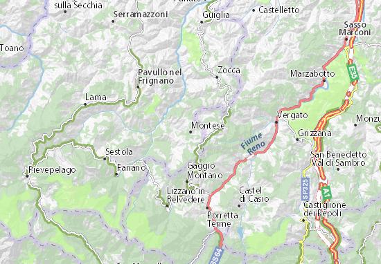Mapas-Planos Montese