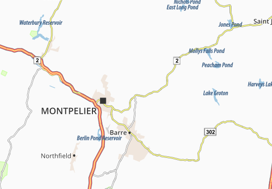 East Montpelier Map