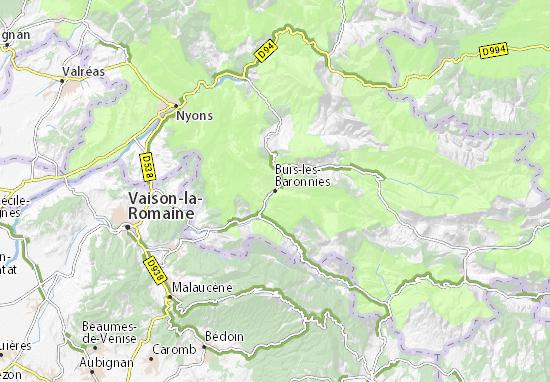 Karte Stadtplan Buis-les-Baronnies