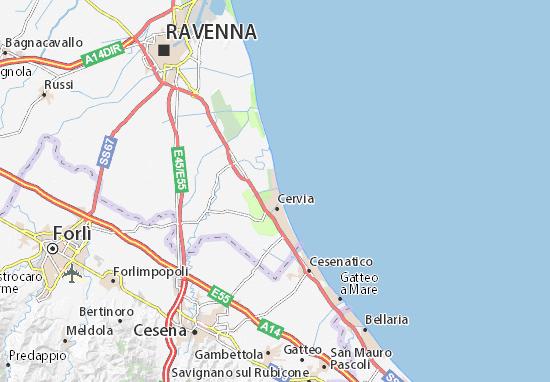 Milano Marittima Cartina Italia.Mappa Michelin Milano Marittima Pinatina Di Milano Marittima Viamichelin