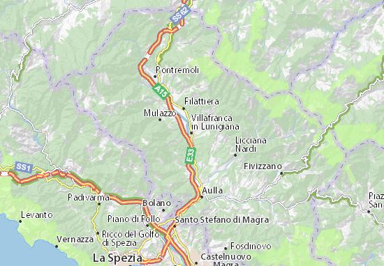 Mapas-Planos Villafranca in Lunigiana