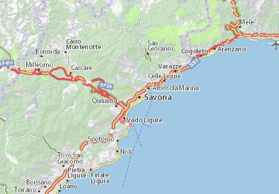 Mapas-Planos Savona