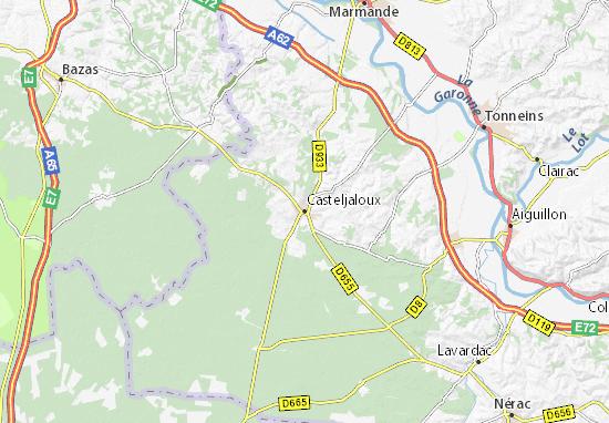 Casteljaloux Map