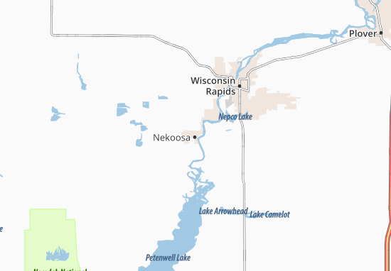 Nekoosa Map