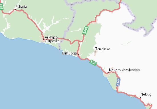Kaart Plattegrond Dzhubga