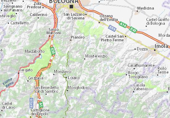 Karte Stadtplan Monterenzio