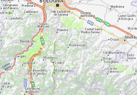 Mapas-Planos Monterenzio