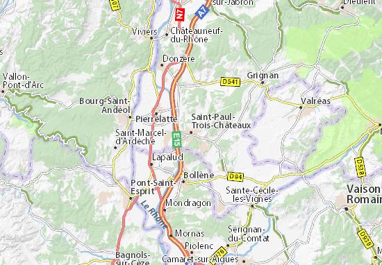 Mapa Plano Saint-Paul-Trois-Châteaux