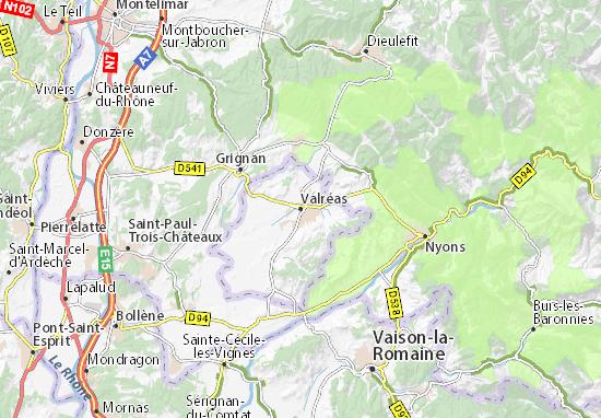 Valréas Map
