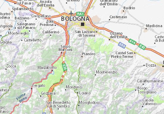Pianoro Map