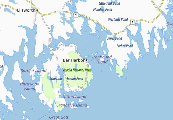 Map Of Restaurants In Bar Harbor Maine