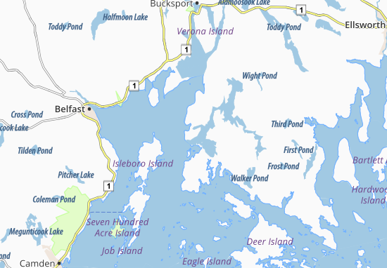 Castine Map Detailed Maps For The City Of Castine Viamichelin