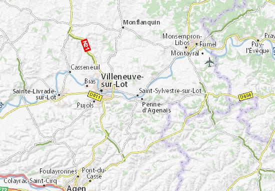Mapas-Planos Saint-Sylvestre-sur-Lot