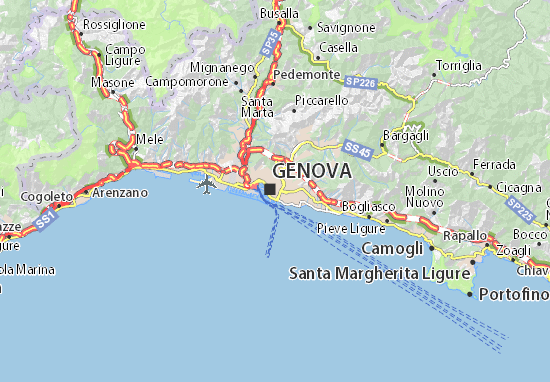 Carte-Plan Genova